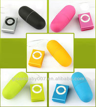 EL009/Beautiful MP3 20 speed wireless remote control egg/bullet vibrator
