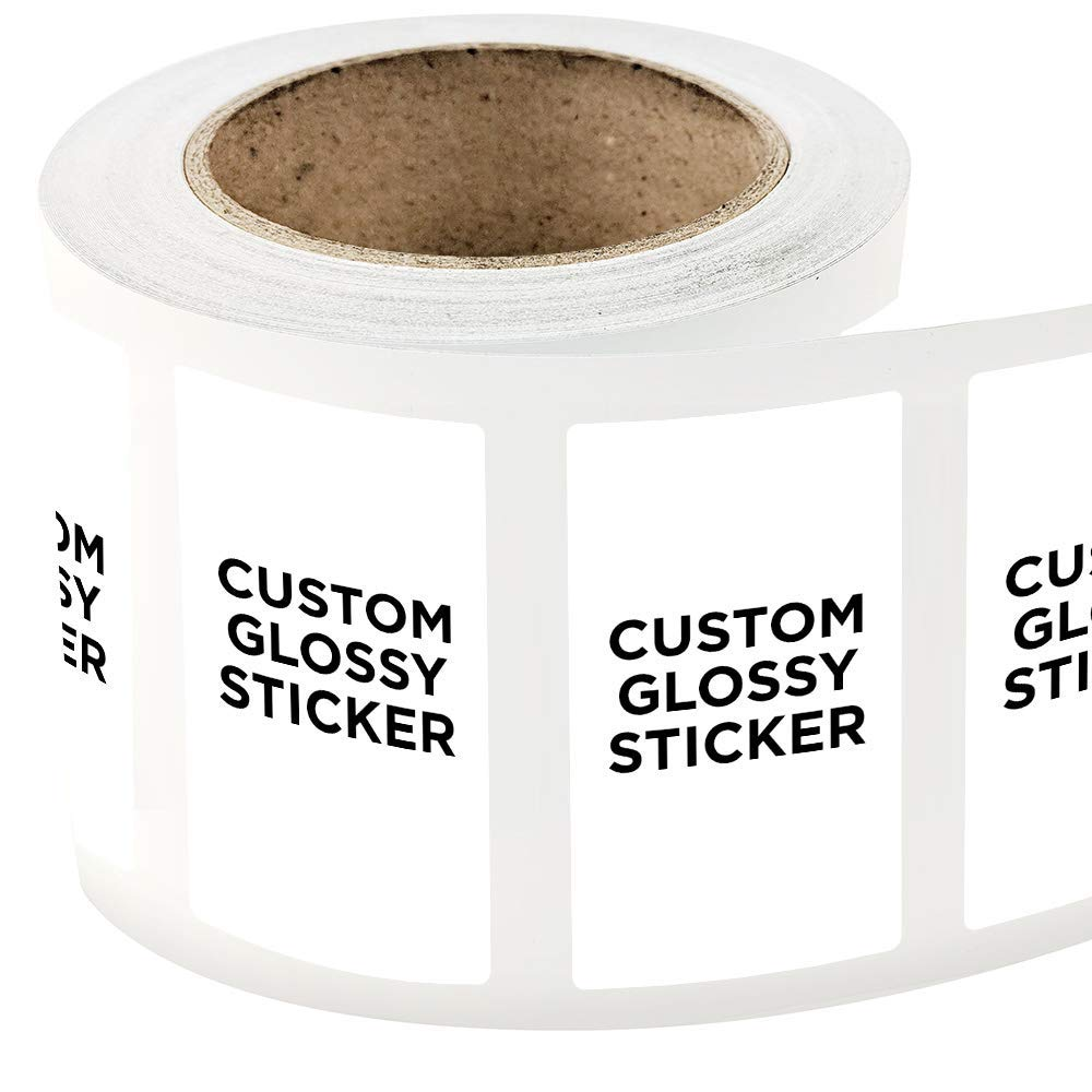 Get quotations · 1000 rectangle shape custom glossy roll label stickers 4 x 7 for products