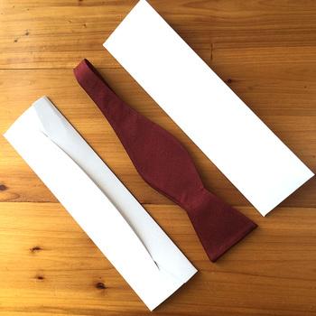 White Cardboard Envelope Gift Bow Tie Storage Box
