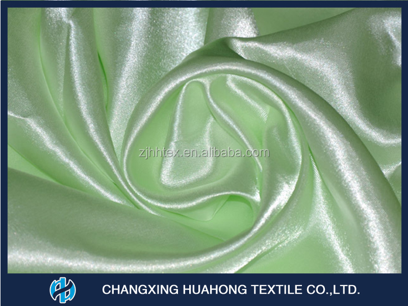 Polyester 75DX150D satin curtain fabric for kitchen curtain with good quality and comeptitive price