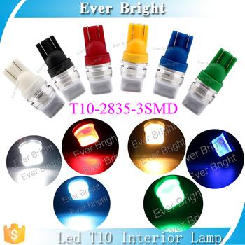 Colored W5w Lee Auto T10 Led Light Lamp 3 Smd Car Interior Led ...