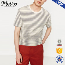 Wholesale Black And White Stripe Mens Mesh T- Shirts In Bulk