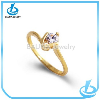 Luxury Korean Style Wedding Occasion Gold Rhinestone Ring Design For