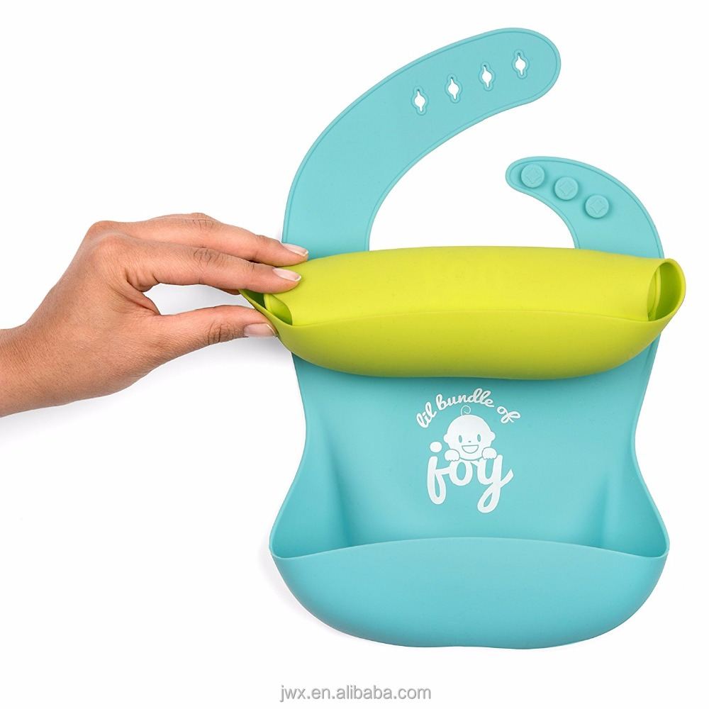 Factory Price Sample Free Toddlers Waterproof Silicone Baby Bib Wholesale