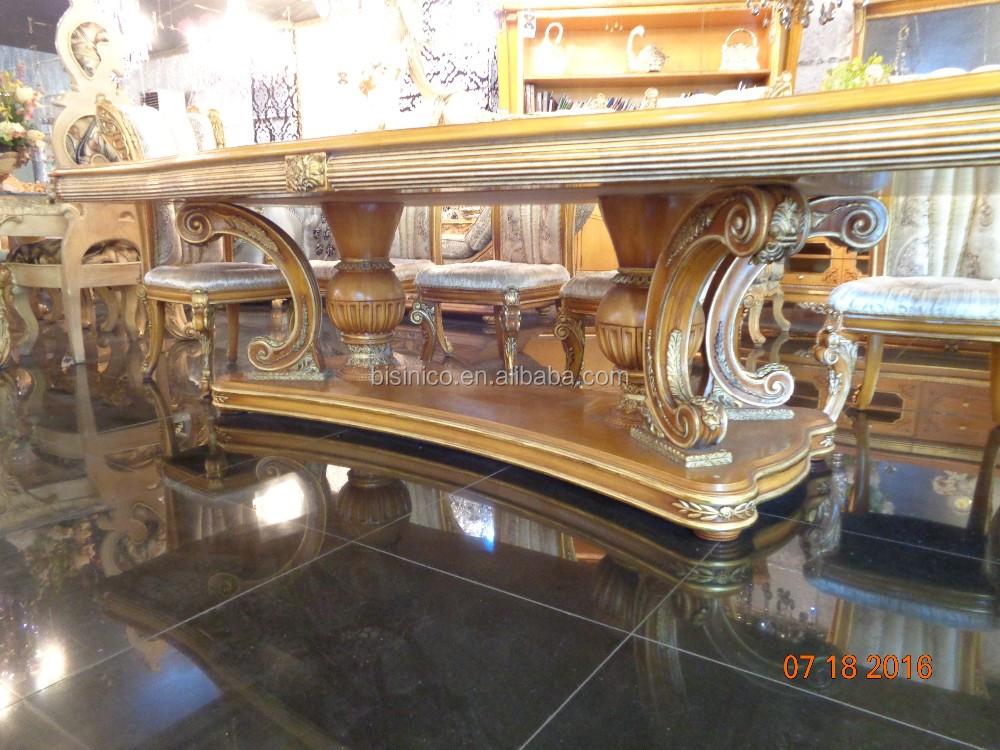 BISINI Italienische Elegante Barock Intarsien Esszimmer Möbel/Europäische  Klassische Holz Carving Langen Tisch Für 8