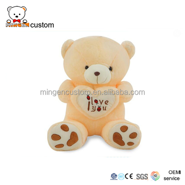 Distributor/Wholesaler sales cute 7-color led music plush bear/recording and sing.