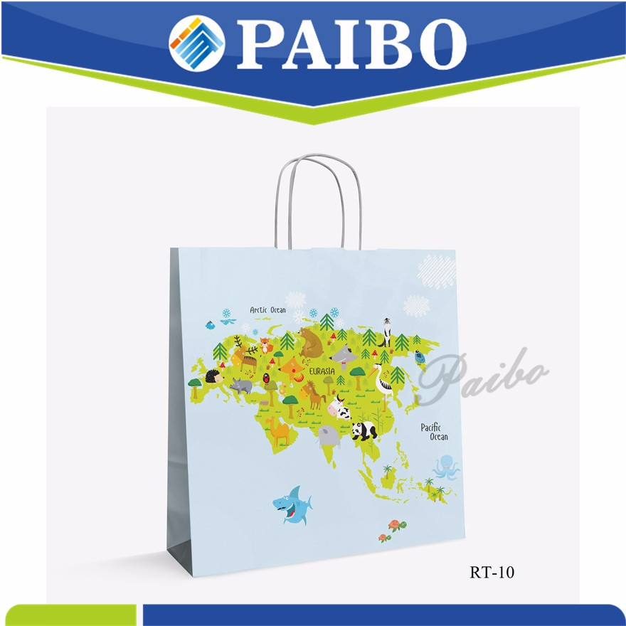 RT-10 c2s paper bag Good Quality with handle professional manufacturer CARTOON KIDS