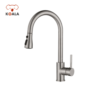 High Pressure Nozzle Basin Sink Hot Tap Water Faucet, Commercial UPC 2-way Brass Knobs Kitchen Water Faucet
