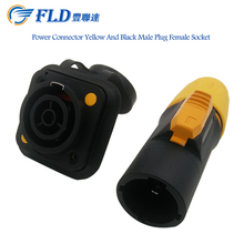 IP65 Power Connector Yellow And Black Female Plug Male Socket Connector