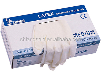 medical latex examination gloves, medical grade, AQL 1.5