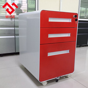 wooden color office legal size file cabinet with display two glass door