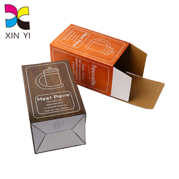XinYi printing high quality custom cheap wine glass packing box with window