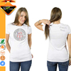 Decorated with Bling Rhinestones Fitted White T-shirts For Women