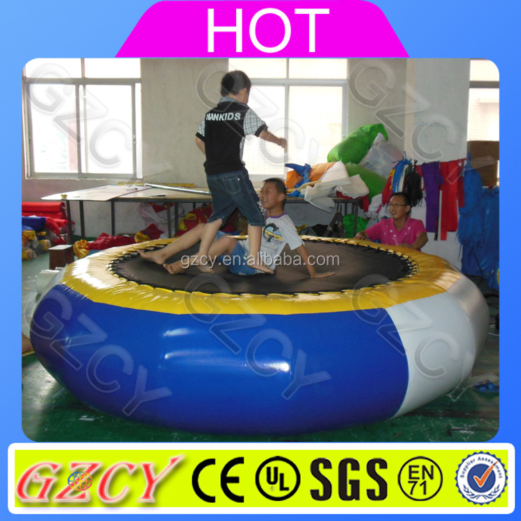 Summer funny adult outdoor toys big inflatable water jumping trampoline bounce