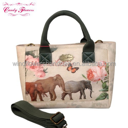 2015 cheap printing flowers fashion ladies handbags on sale