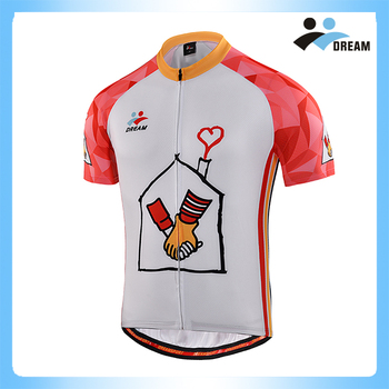 3d35178a4 Dream Sport 2017 White Sublimation Merino Wool Cycling Jersey Custom ...
