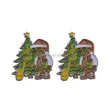 Custom Badge Cheap Brass Pin Christmas Lapel Pins