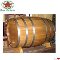 customizable pine wood garden decoration barrel