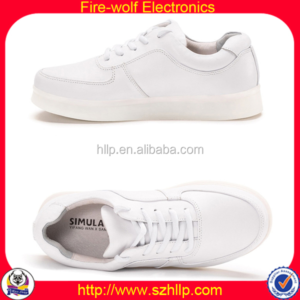 2015 Supplier Genuine Leather Sneakers Fashion 2014 Led Shoes