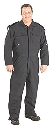 """TOPPS SAFETY CO08-5605-Short/50-52 Nomex Lined Overall, 6 oz., 50""""-52"""", XX-Large, Short, Navy Blue"""