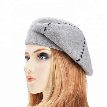 fff28eb7ab94a Wholesale Custom Women 100% Wool French Beret Hat - Buy French ...