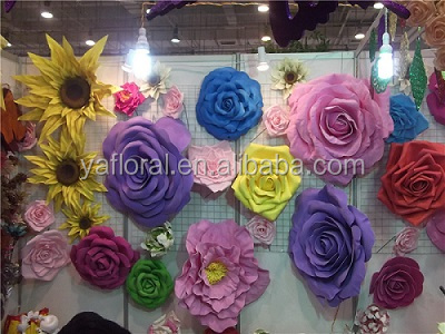 artificial flower giant paper flower foam flower for wedding decoation.