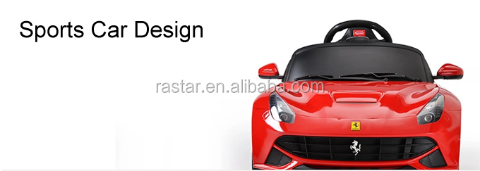 rastar licensed ferrari licensed battery operated electric toy baby car for kids