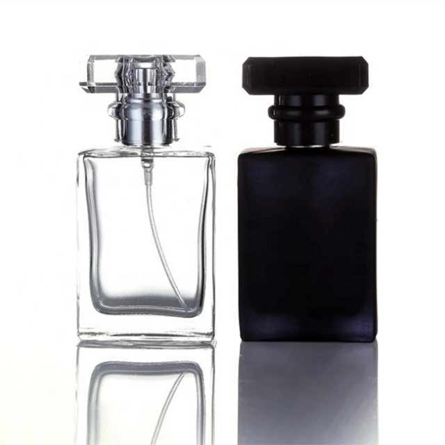 Hot Sale 30ml 50ml 100ml Transparent and black Glass Perfume spray <strong>Bottle</strong>
