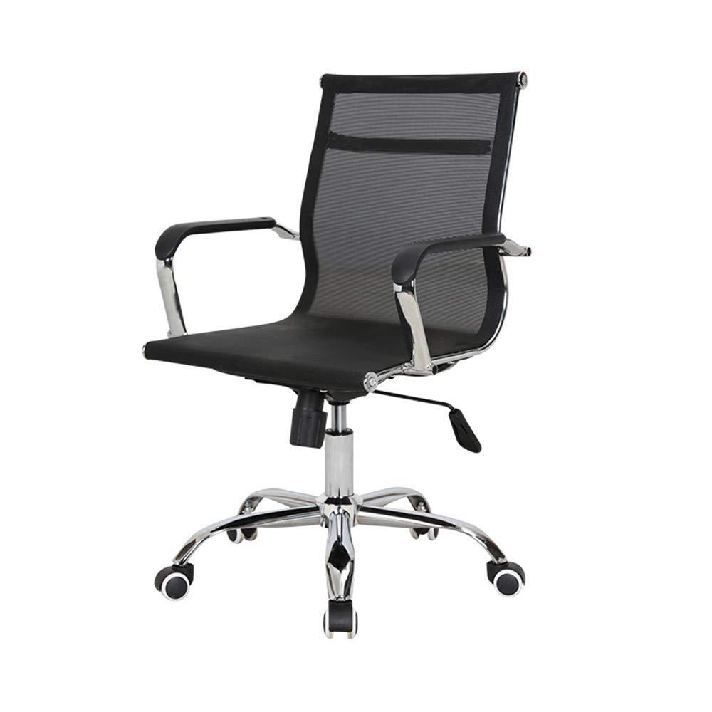 QFFL jiaozhengyi Swivel Chair, Home Computer Chair Rotating Lifting Student Leisure Chair Office Boss Chair (Color : Steel feet)