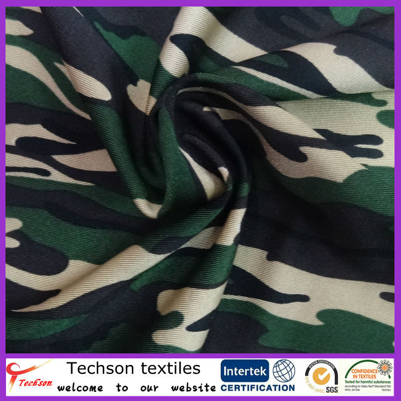 Nylon lycra camouflage printed fabric,camo prints stretch fabric