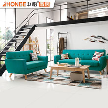 wooden living room furniture modern nordic sectional green fabric sofa set pictures wood sofa furniture