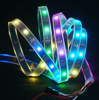 magic digital ws2812 arduino-compatible flexible led strip, View magic  digital led strip, WorldSemi Product Details from Shenzhen Worldsemi  Technology