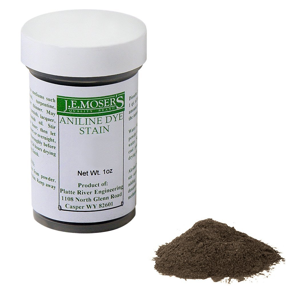 J.E. Moser's 844407, Finishes, Wood Stains & Dyes, Water Soluble Lt. Sheraton Mahog. Aniline Dye, 1 Oz