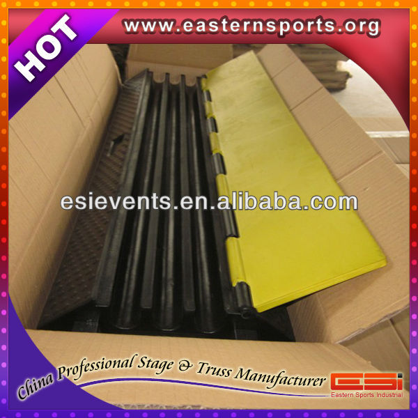 Cable rubber car loading Ramp