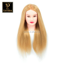 natural hair training mannequins head 100% human hair mannequin head human hair training mannequin head