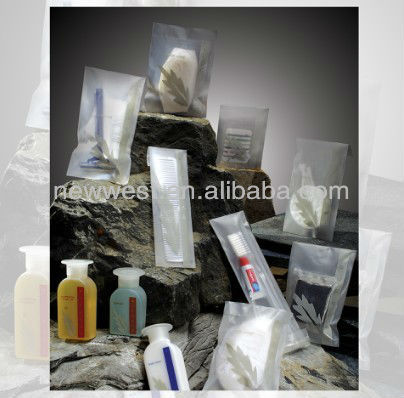 Recyclable Hotel Use Sachet amenities set