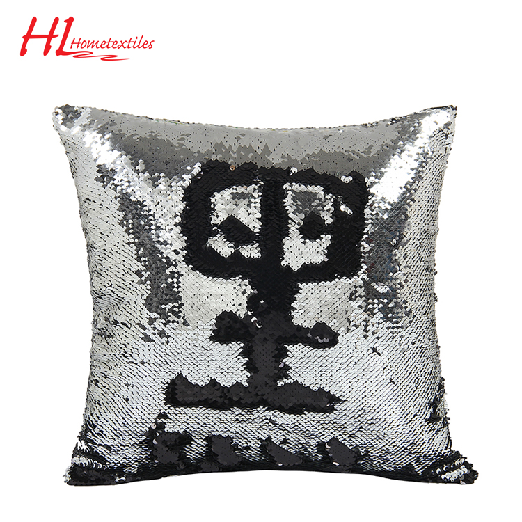 Home textile factory supply custom sequin cushion,customized printing cushion cover