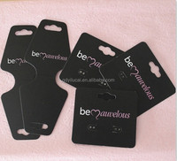 custom printed necklace earring card displays holders with logo