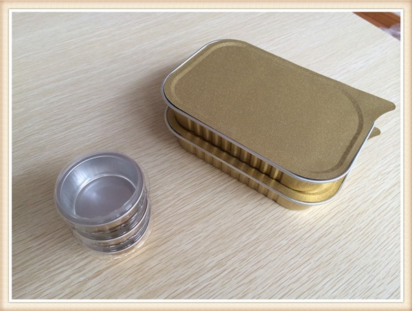 Food Grade Aluminium Foil Container Carryout Lunch Box