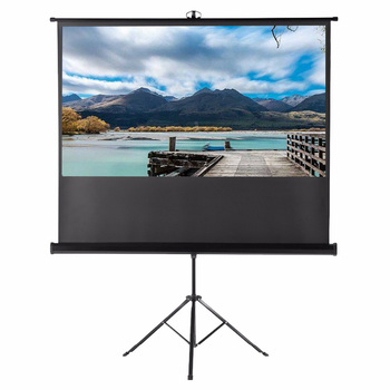 Hot Selling 16:9 92 Inch Foldable HD Mobile Portable Tripod Screen for indoor outdoor