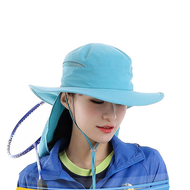 Blank Plain Dri-fit Light String Bucket Hat With Neck Cover