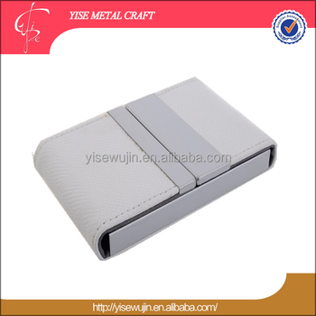 2016 promotional gifts 2 folds card box white pu leather business 2016 promotional gifts 2 folds card box white pu leather business card case cheap name card reheart Image collections