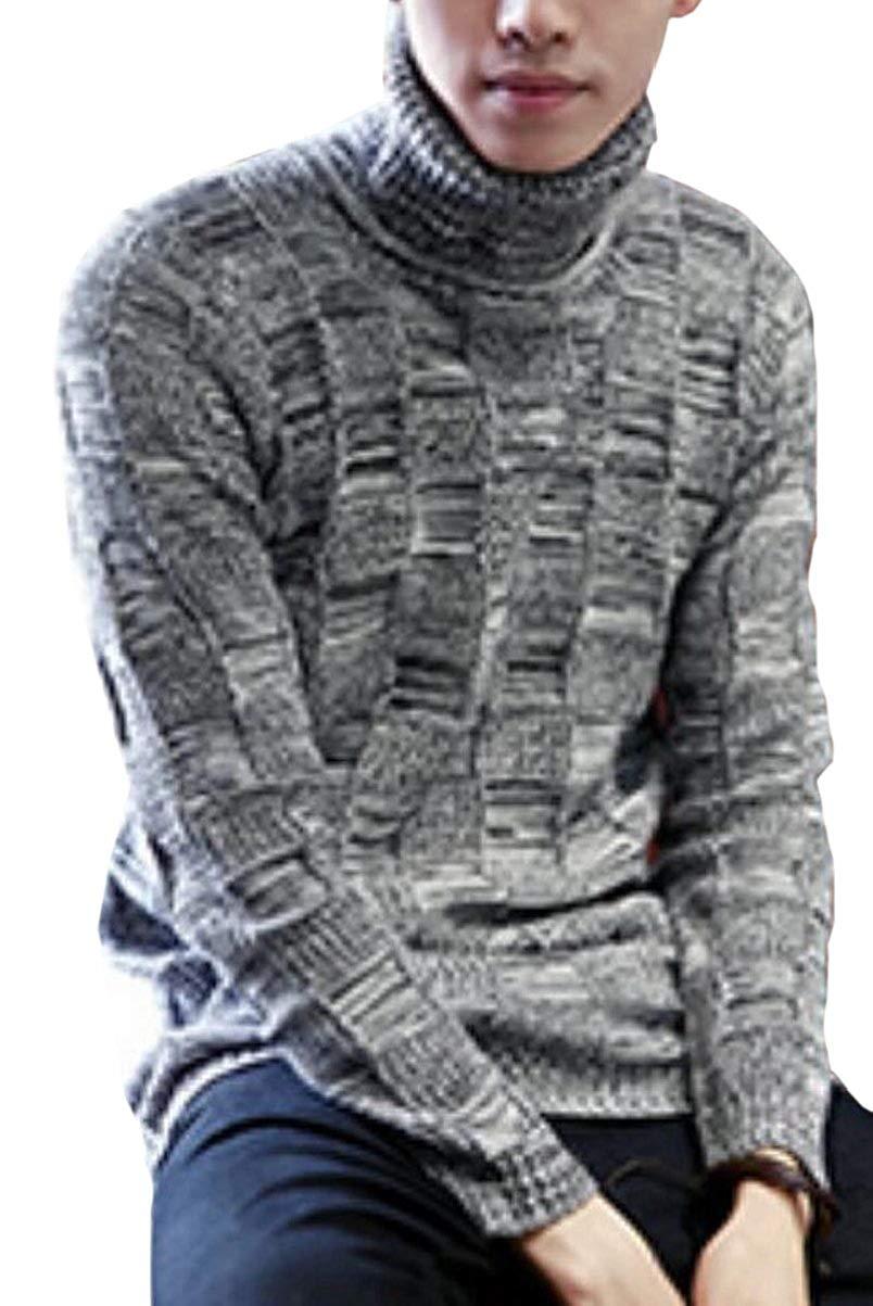 283f5e3d Get Quotations · WSPLYSPJY Men Custom Slim Fit Turtleneck Long Sleeve Wild  Knit Sweaters