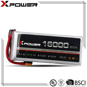 11.1V 16000mAh 20C Deep Cycle Rechargeable Lithium ion Li-polymer 3S LiPo Battery Pack for Large RC Helicopter Eppo Machine