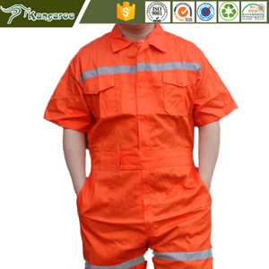 KWM22 100% Cotton Short Sleeve Lightweight Summer Coveralls For Men