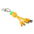 Free Shipping USB Multi Charging Cable Custom With Keychain for Mobile Phone Charging Cable