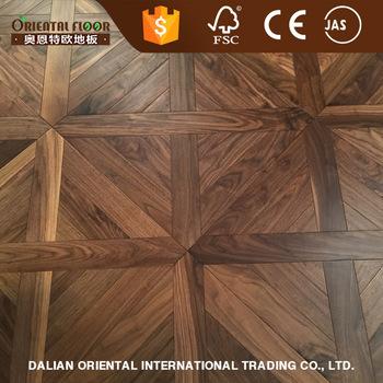 American Black Walnut Square Wood Parquet Tile Flooring