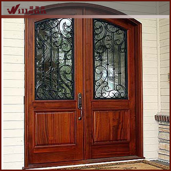 Vivienda exterior puerta moderna puerta de hierro forjado - Puertas de hierro para exterior ...