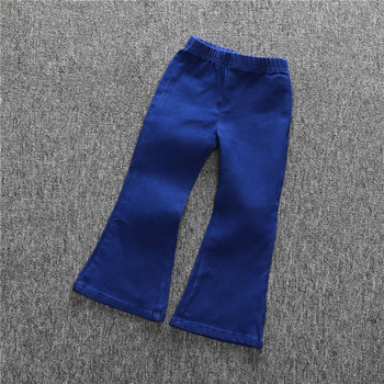 Hot sale boutique girls bell bottom trousers jeans pants