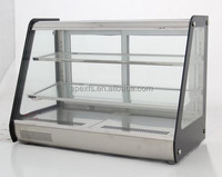Two layers counter top display bread refrigerated showcase
